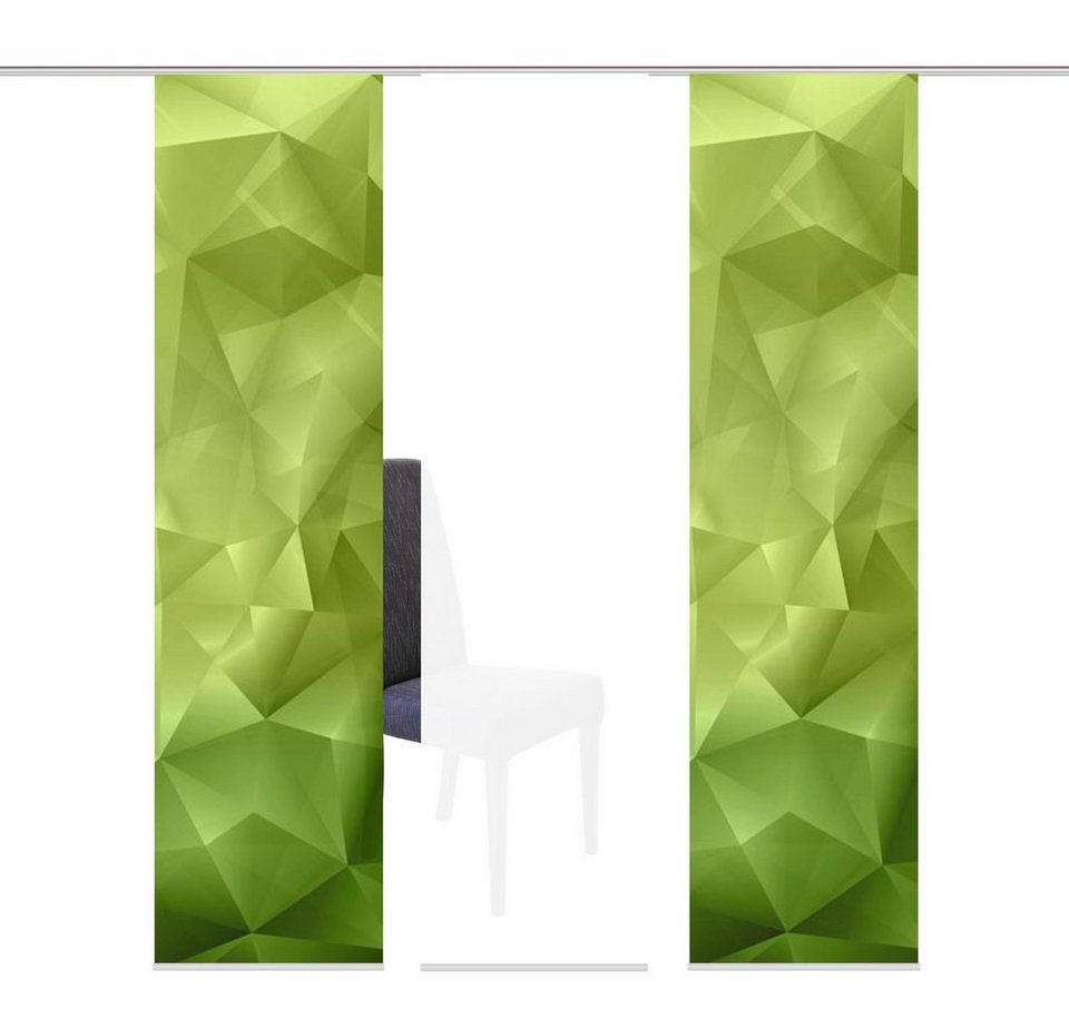 Schiebegardine, Home Wohnideen, »ROSEVILLE«, Mehrfachsets (mit Zubehör) in grün