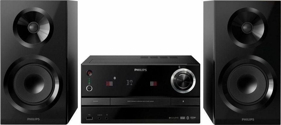 Philips izzy BM60B/10 Stereoanlage, Bluetooth, RDS, Multiroom in schwarz