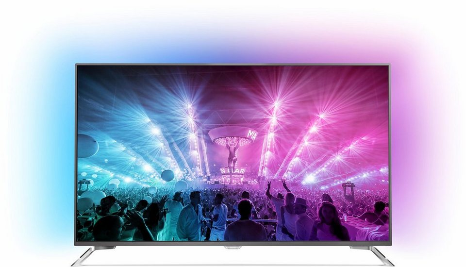 Philips 75PUS7101/12, LED Fernseher, 189 cm (75 Zoll), 2160p (4K Ultra HD) Ambilight, Smart-TV in silberfarben