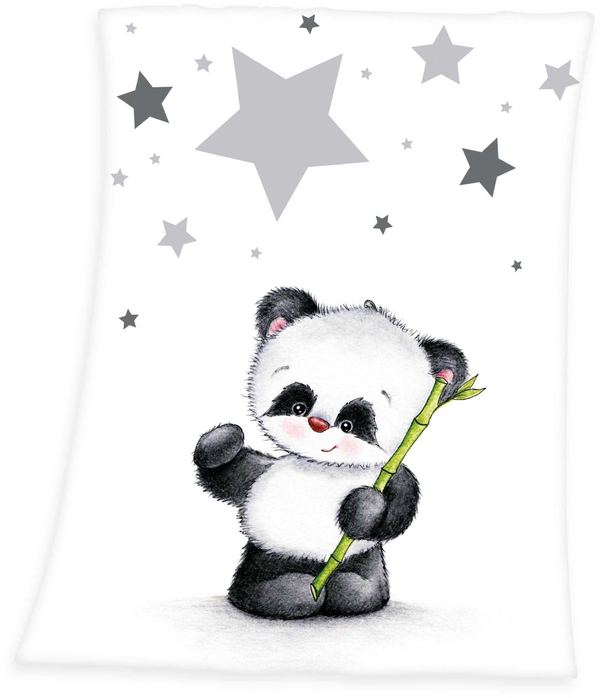 Babydecke, baby best®, »Fynn Panda«, mit Panda-Motiv