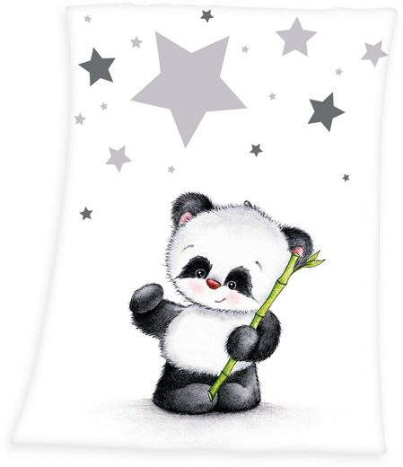 Babydecke »Fynn Panda«, Baby Best, mit Panda-Motiv
