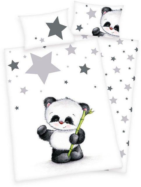 Babybettwäsche »Jana Panda«, Baby Best, mit Panda | Kinderzimmer > Textilien für Kinder > Kinderbettwäsche | Baumwolle | Baby Best