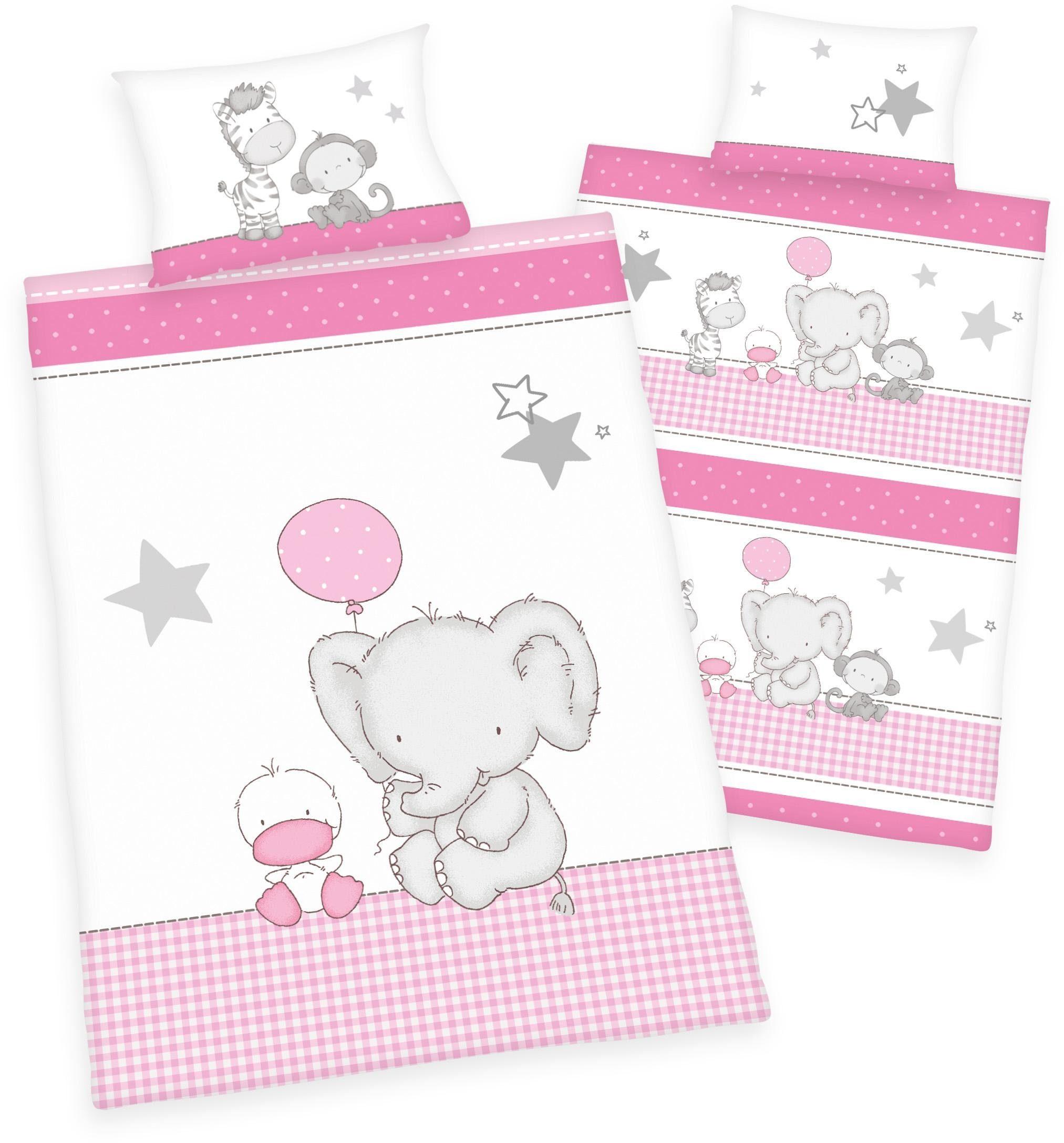 Babybettwäsche, baby best®, »Jana Elefant«, mit Tieren