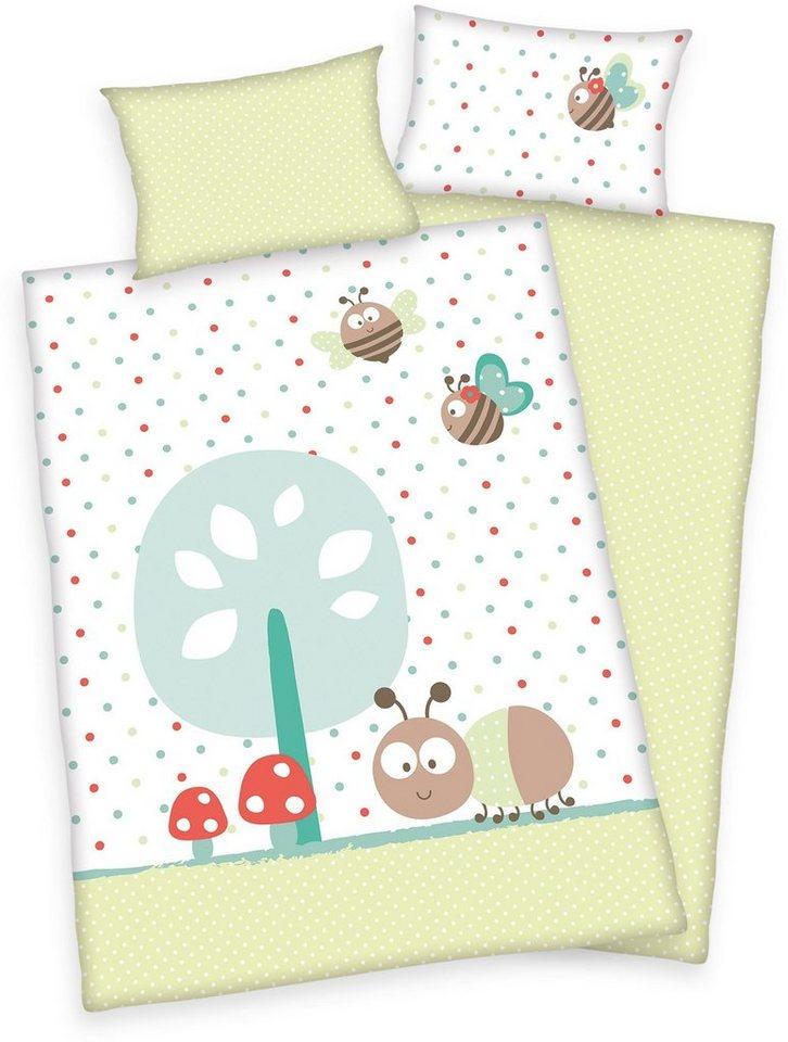 Babybettwäsche, baby best®, »Jana Bienen«, mit Bienchen in hellgrün