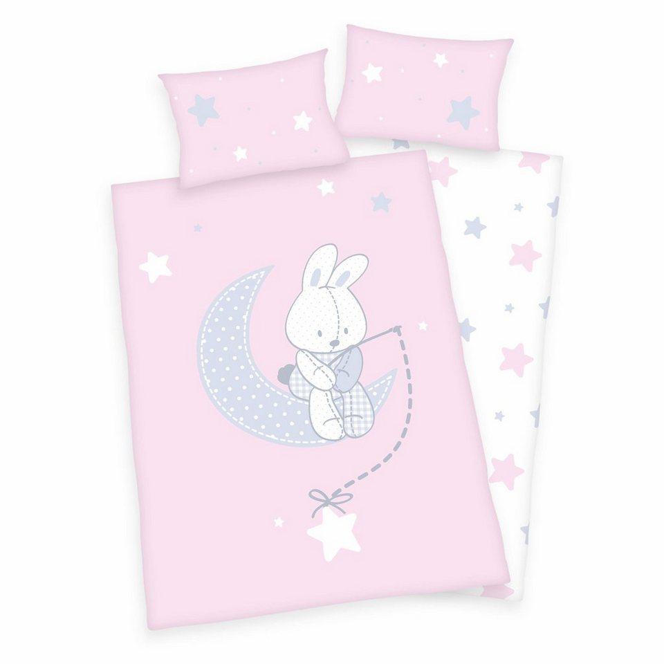 Babybettwäsche, baby best®, »Jana Hase«, mit Häschen in rosa