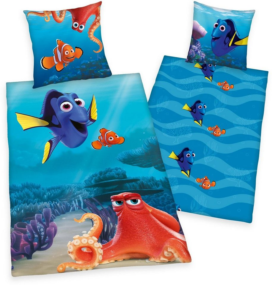 Kinderbettwäsche, Disney, »Findet Dorie«, mit Dorie-Motiv in blau