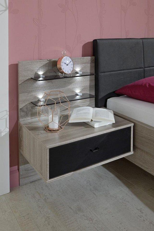 nachttisch nussbaum schwarz nako pasadena columbis nussbaum glas schwarz sk wr with nachttisch. Black Bedroom Furniture Sets. Home Design Ideas