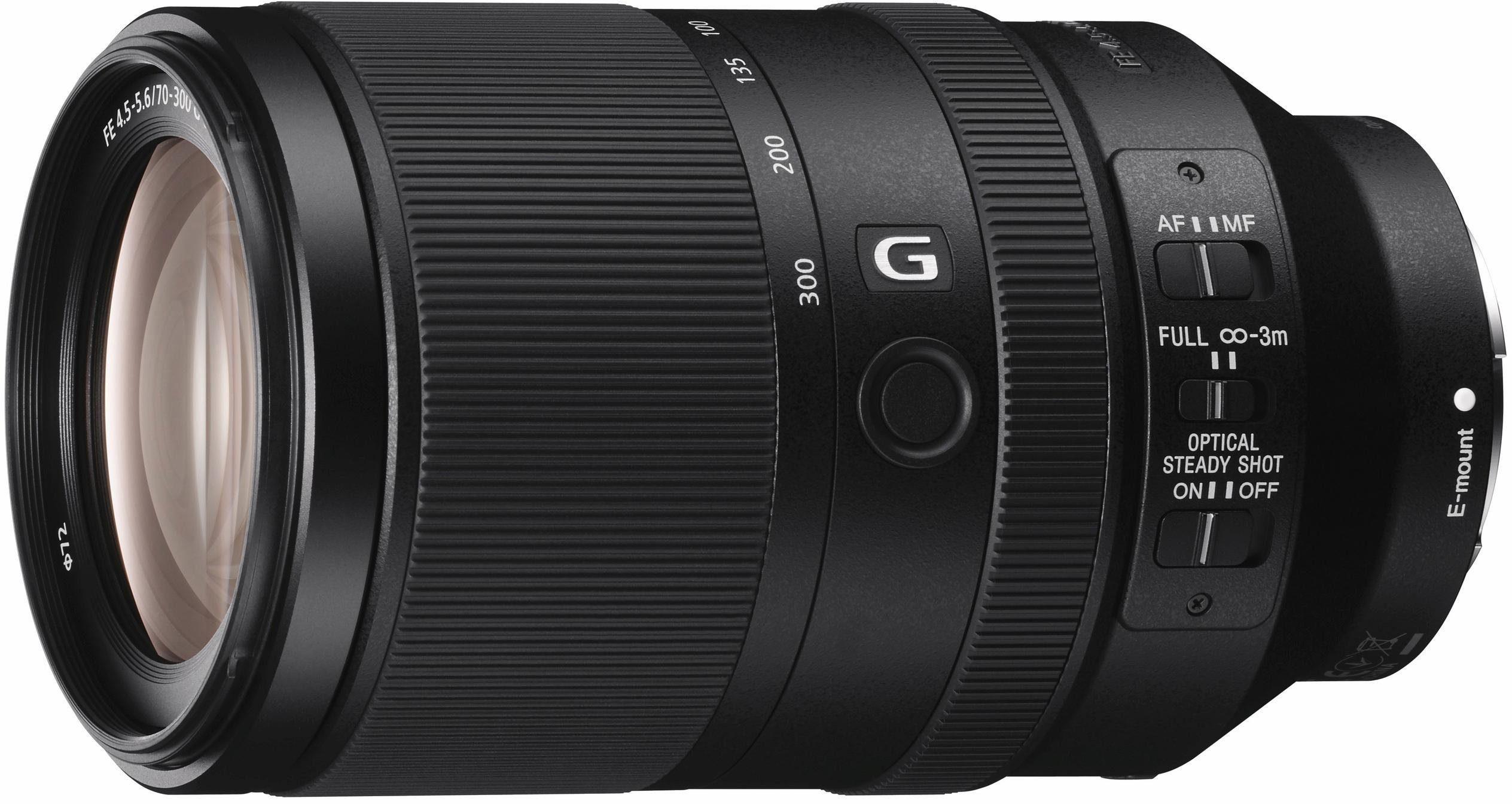 Sony SEL-70300G, E-Mount Vollformat-Telezoom Objektiv, 70-300mm, F4,5 - 5,6 G OSS, G-Serie