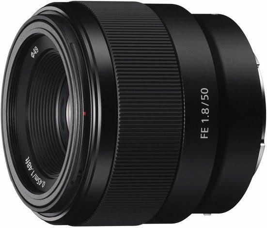 Sony »SEL-50F18F E-Mount Vollformat« Objektiv, (E 50mm F1.8, APS-C)