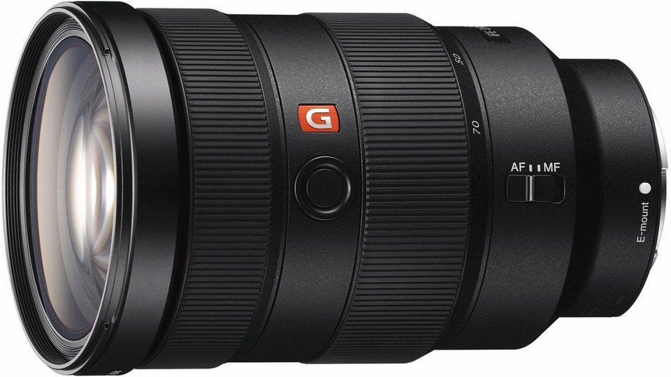 Sony SEL-2470GM, lichtstarkes FE 24-70mm E-Mount Vollformat G-Master DSLR Objektiv, Standardzoom in schwarz