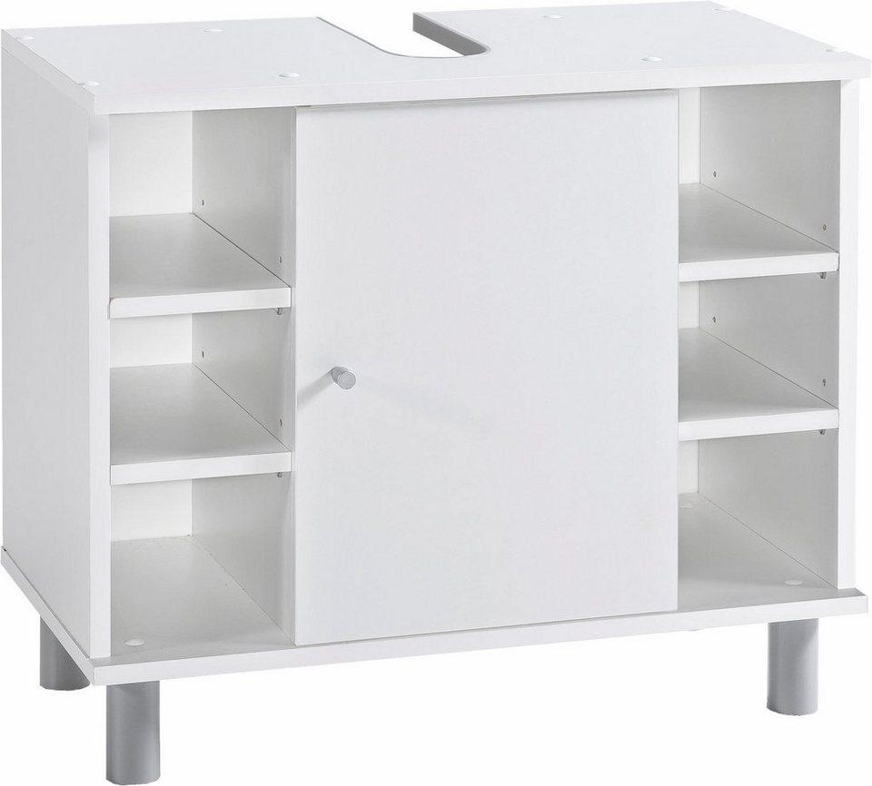 Waschbeckenunterschrank »Simply« in weiß/weiß