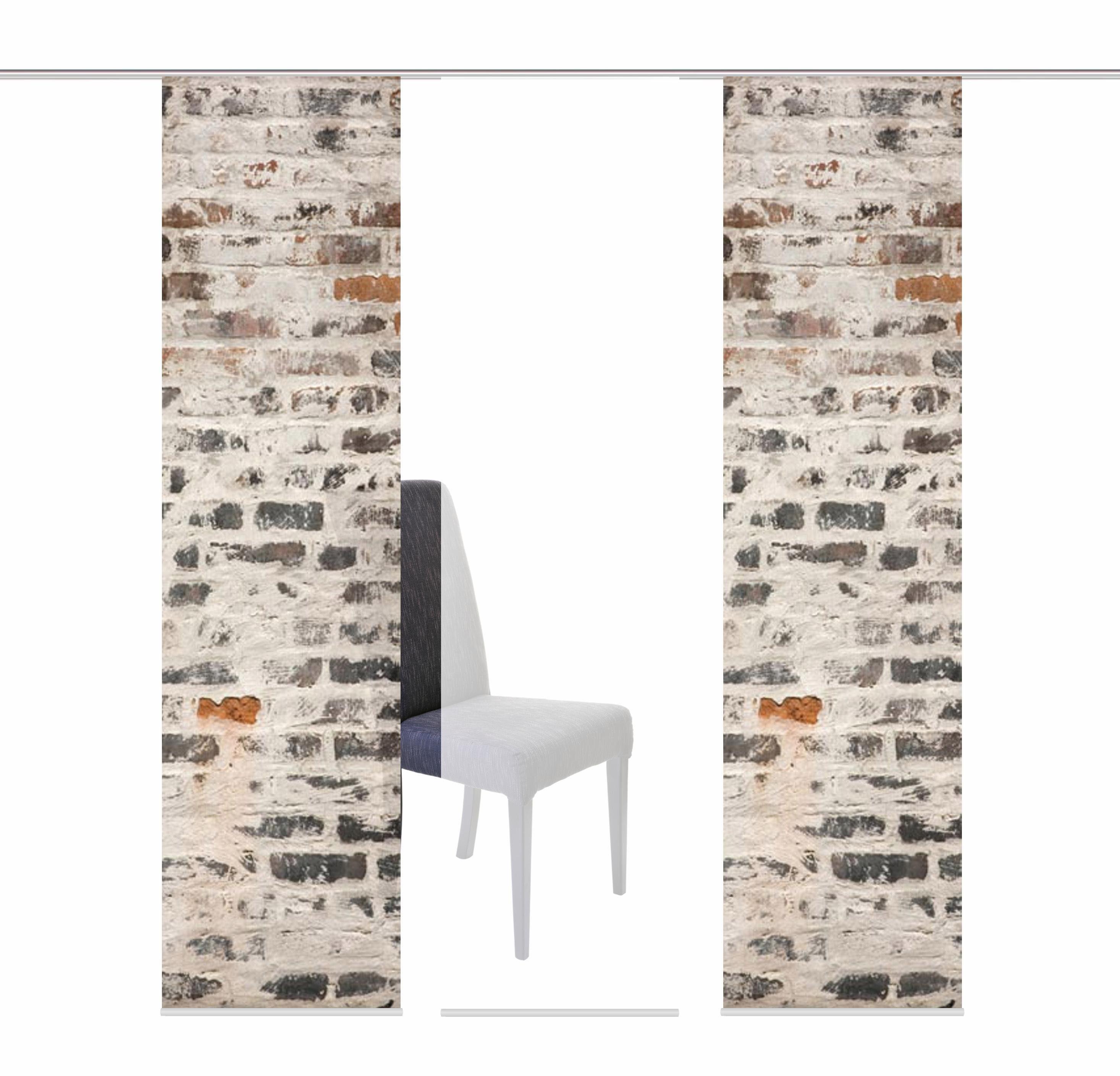 Schiebegardine »MURO«, HOME WOHNIDEEN, Klettband (3 Stück), inkl. Befestigungszubehör