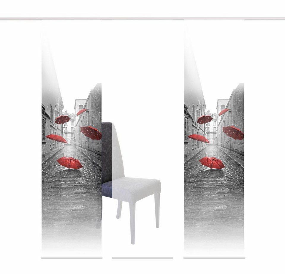 schiebegardine home wohnideen zont mit klettband mehrfachsets mit zubeh r online kaufen. Black Bedroom Furniture Sets. Home Design Ideas