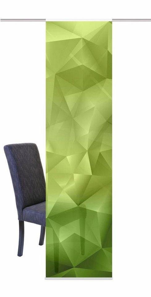 Schiebegardine, Home Wohnideen, »WATERLOO«, mit Klettband (1 Stück mit Zubehör) in grün