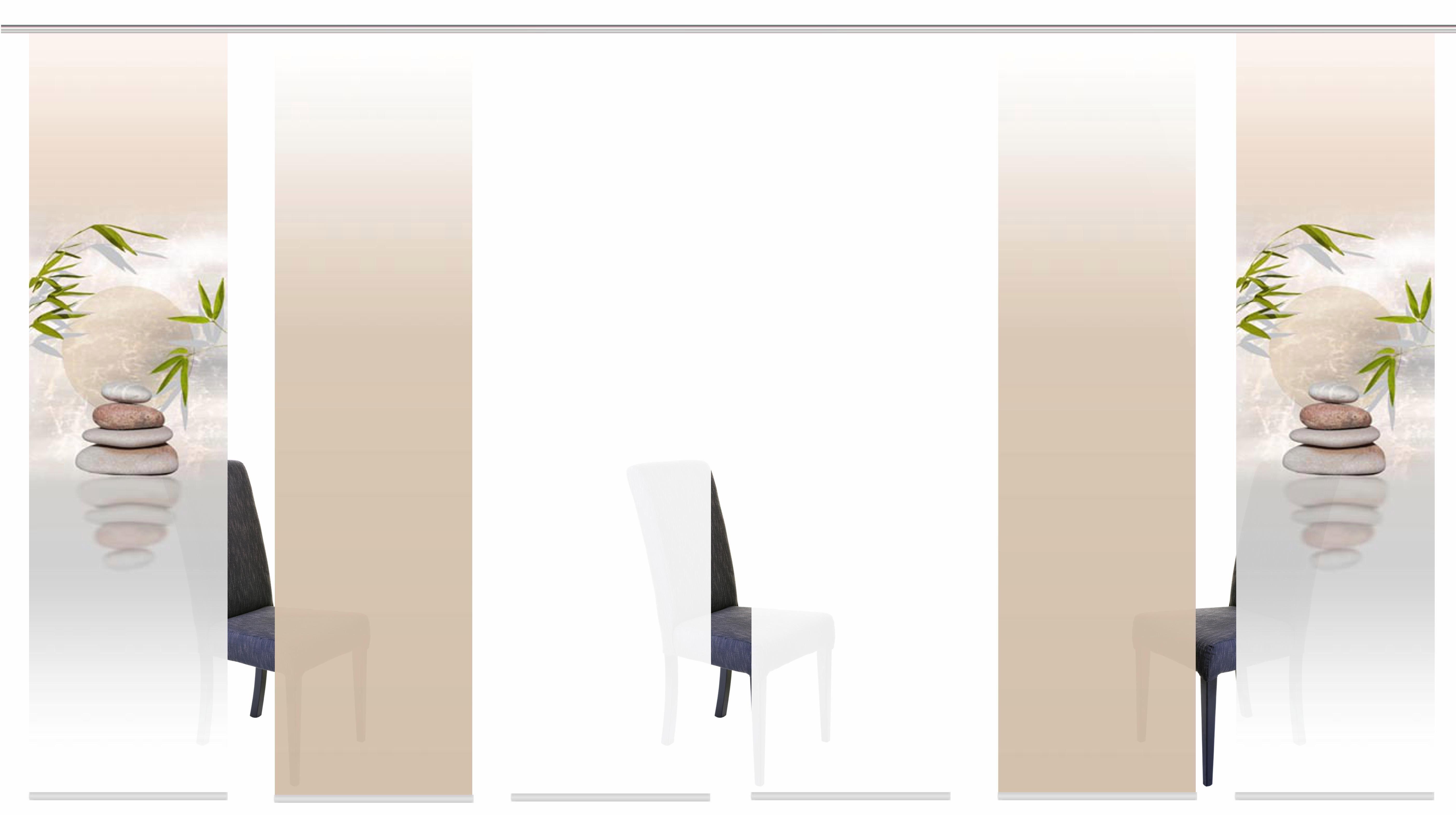 Schiebegardine »BUDA«, HOME WOHNIDEEN, Klettband (6 Stück), inkl. Befestigungszubehör