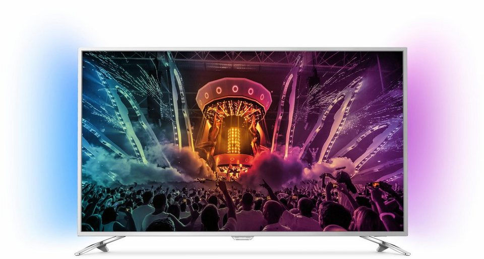 Philips 43PUS6501/12, LED Fernseher, 108 cm (43 Zoll), 2160p (4K Ultra HD) Ambilight, Smart-TV in silberfarben