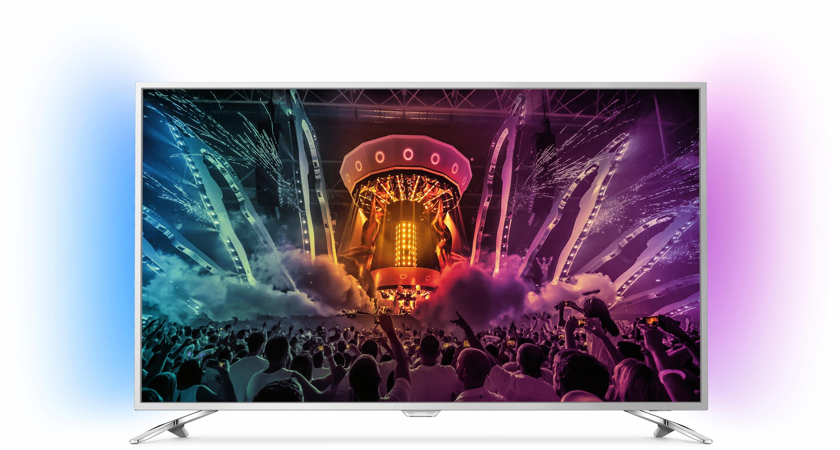 Philips 43PUS6501/12, LED Fernseher, 108 cm (43 Zoll), 2160p (4K Ultra HD) Ambilight, Smart-TV