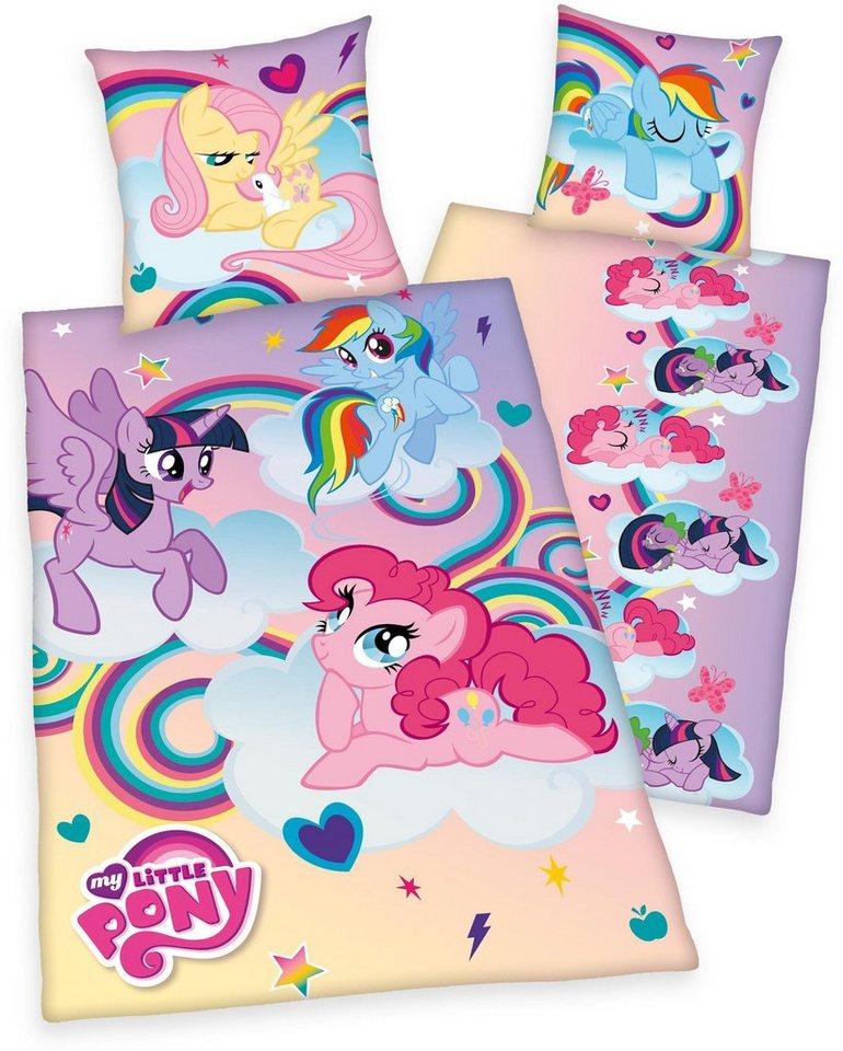 Kinderbettwäsche, My little Pony, »Ponyfarm«, mit Ponys in lila