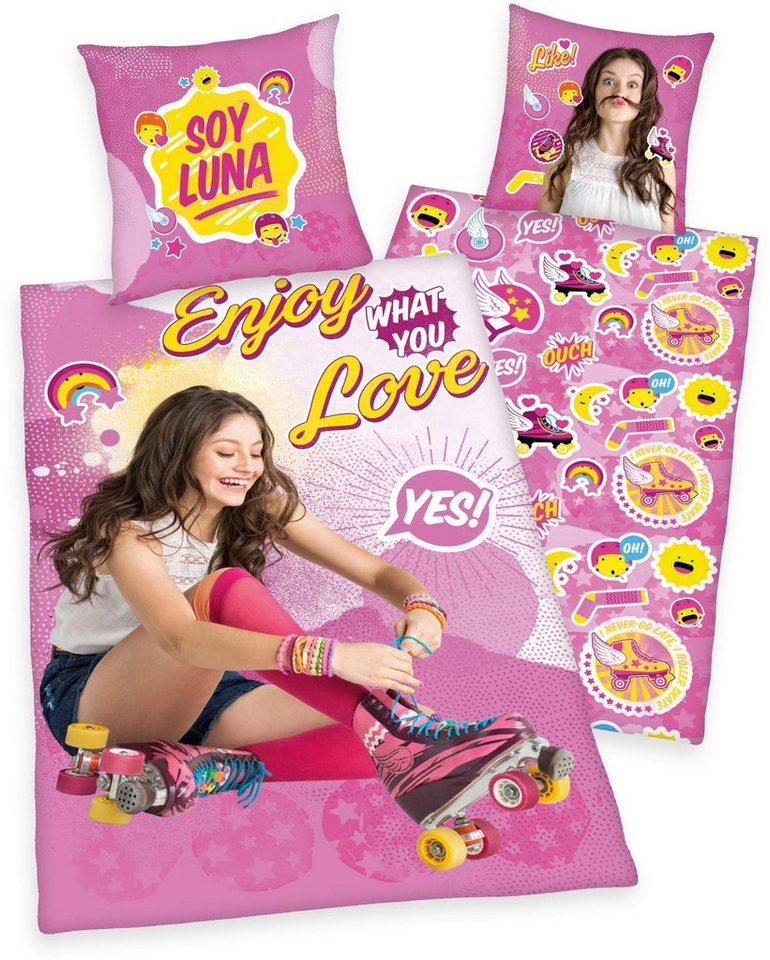 Kinderbettwäsche, Disney, »Soy Luna«, mit Luna Portrait in pink