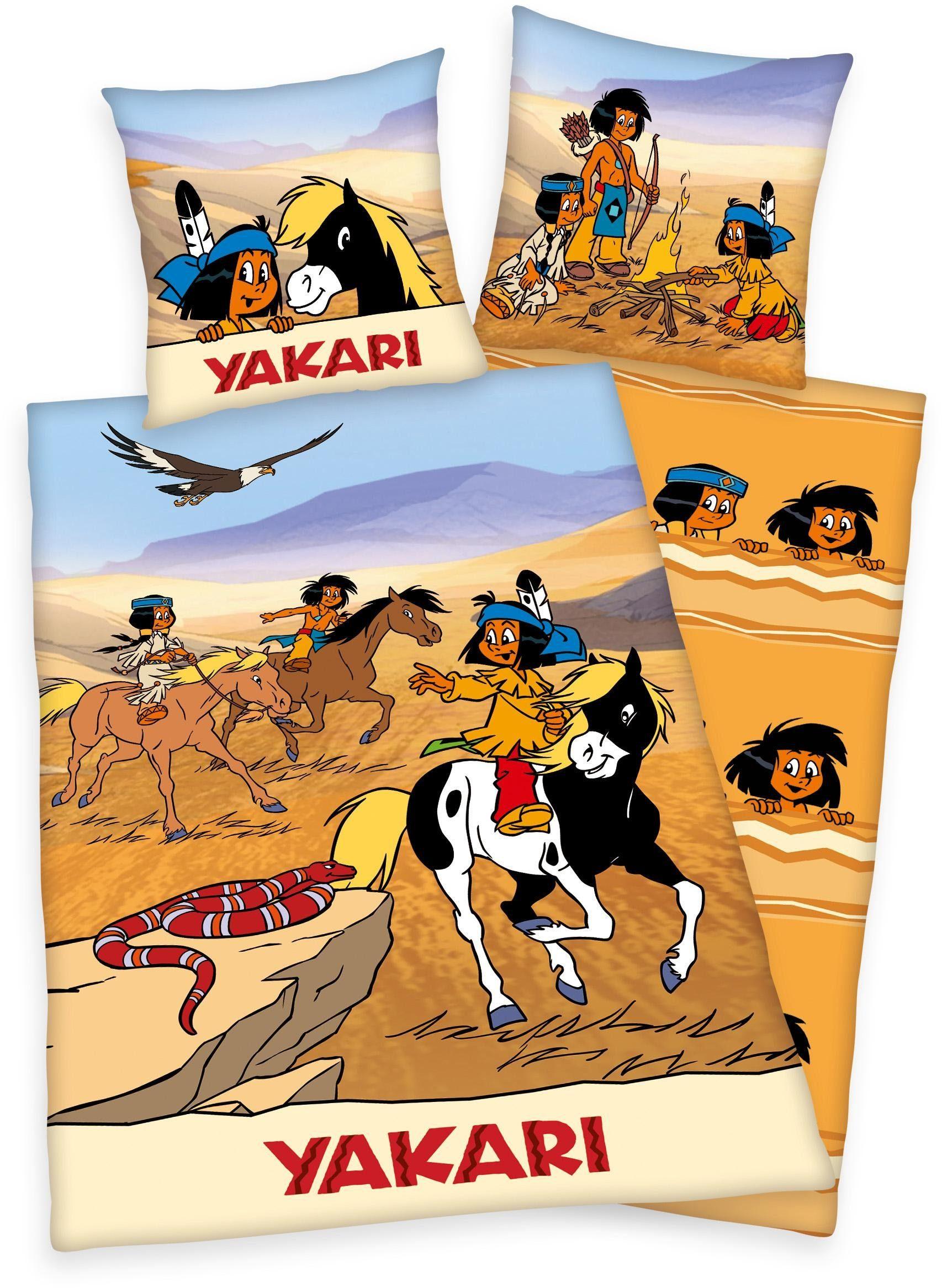 Kinderbettwäsche, Yakari, »Wüstenrennen«, mit Indianern