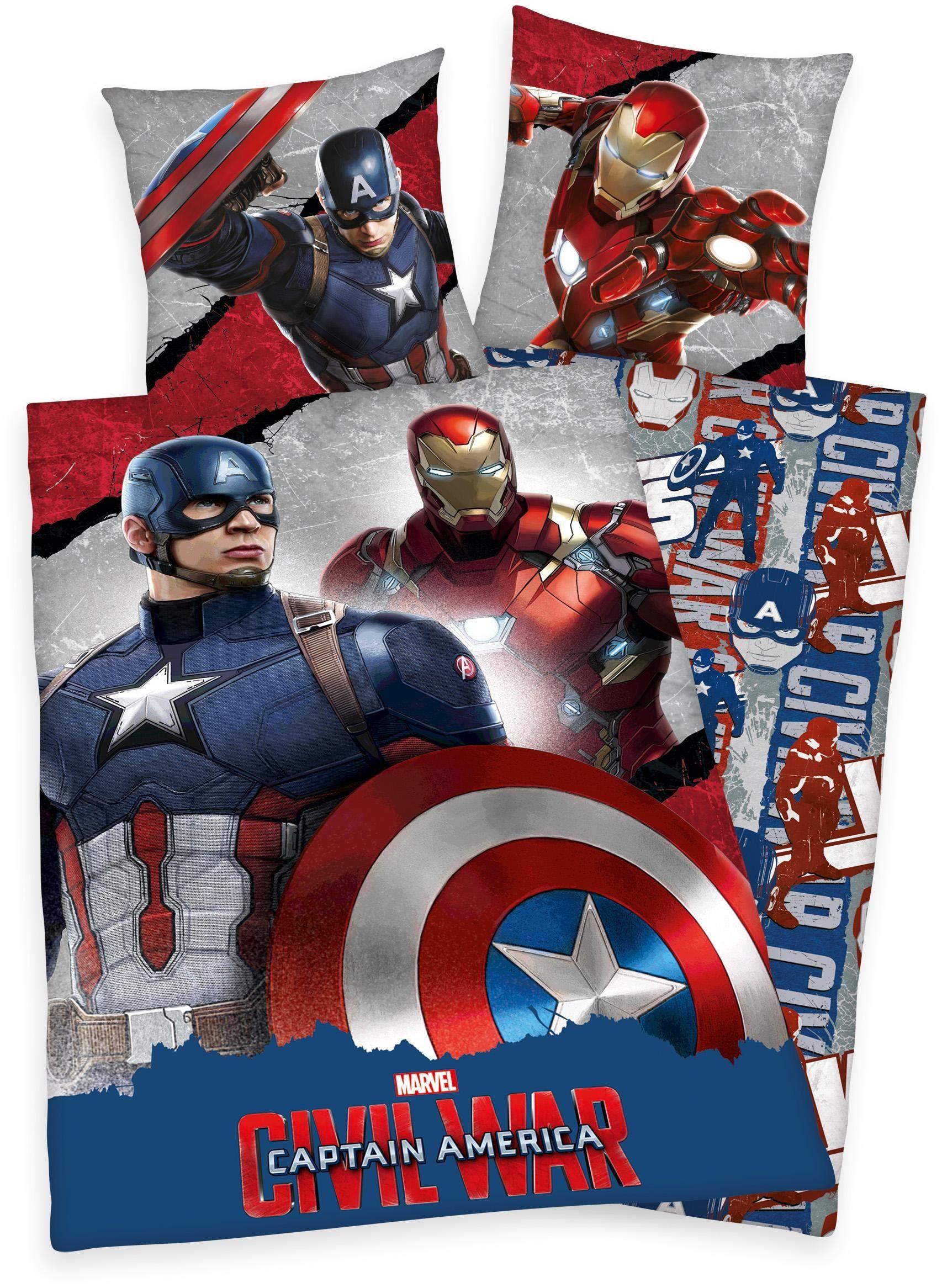 Jugendbettwäsche, Marvel, »Captain America«, mit Helden