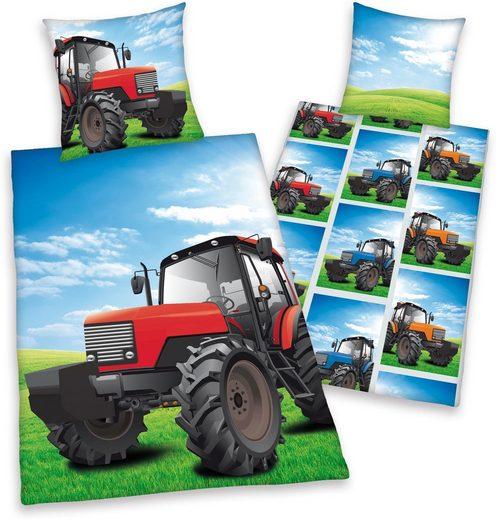 Kinderbettwäsche »Traktor«, Herding Young Collection, mit Motiv