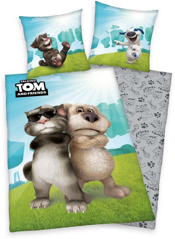 Jugendbettwäsche, Talking Tom, »Cool Cat«, mit Tom & Ben in multi