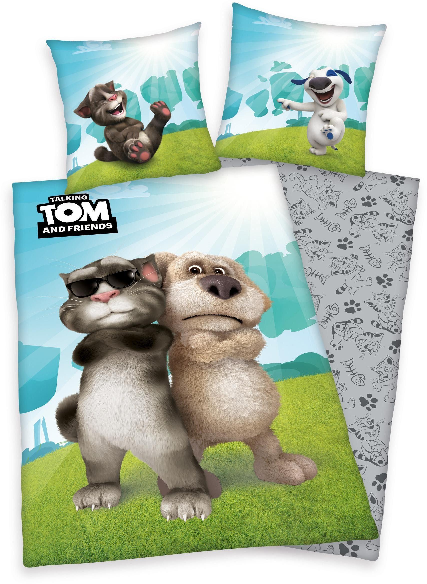 Jugendbettwäsche, Talking Tom, »Cool Cat«, mit Tom & Ben