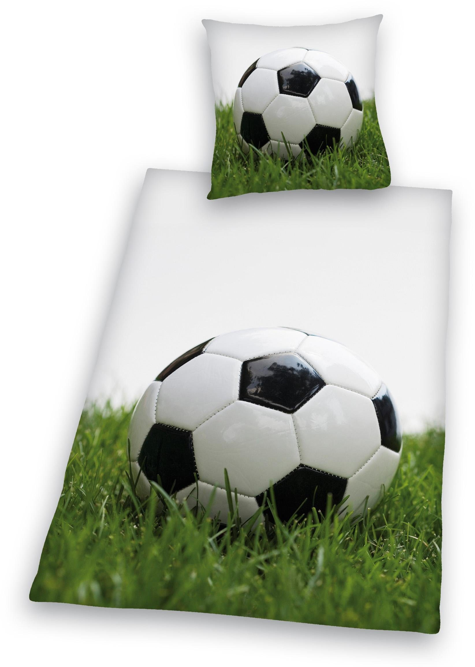 Bettwäsche, Young Collection, »Fußball«, mit Ball