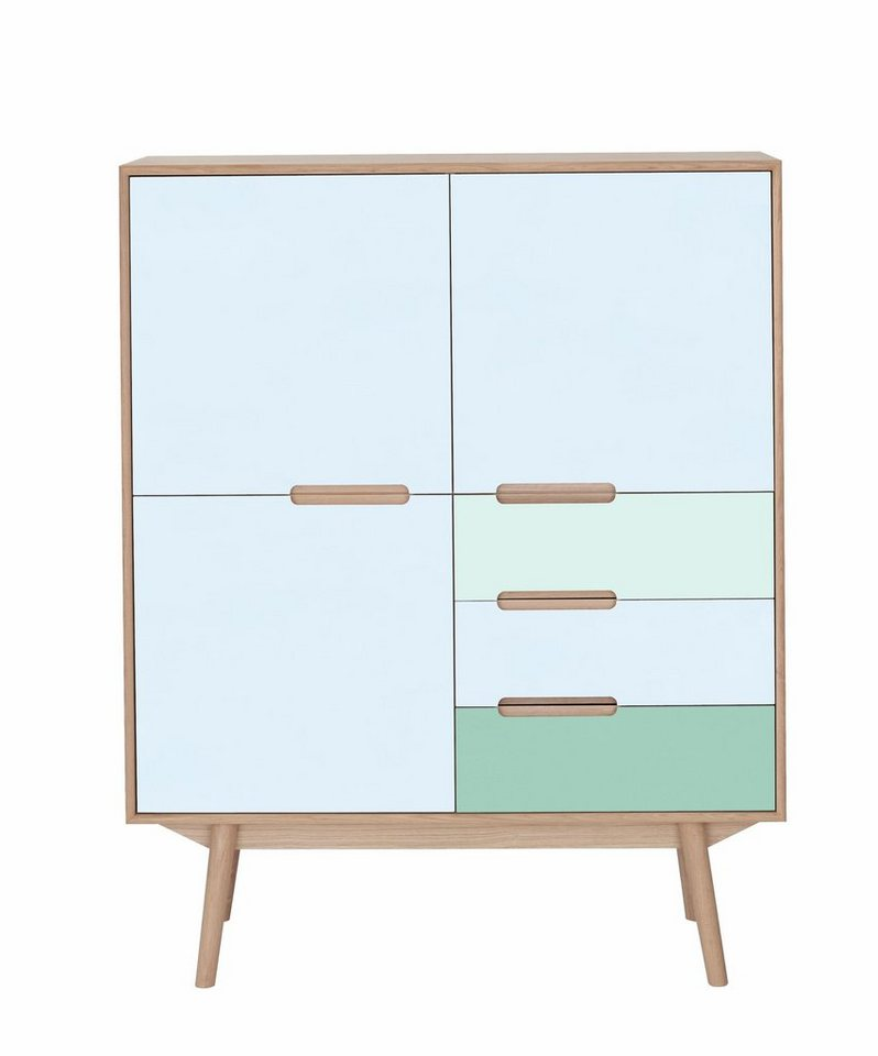 andas Highboard »Curve« white oak, ocean blue, Farbkonzept von roombeez Bloggerin Bianca in Ocean blue