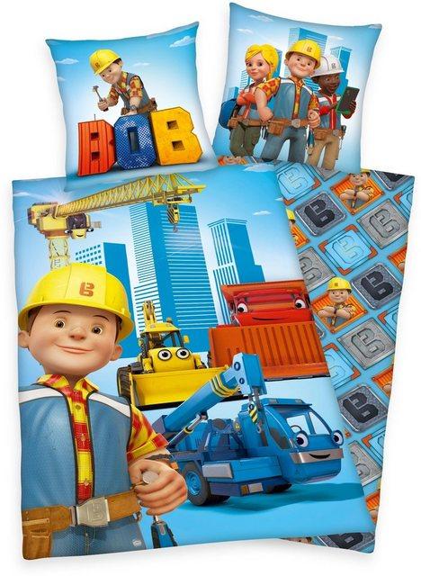 Kinderbettwäsche »Bob«, Bob der Baumeister, mit Motiven | Kinderzimmer > Textilien für Kinder > Kinderbettwäsche | Baumwolle | Bob der Baumeister