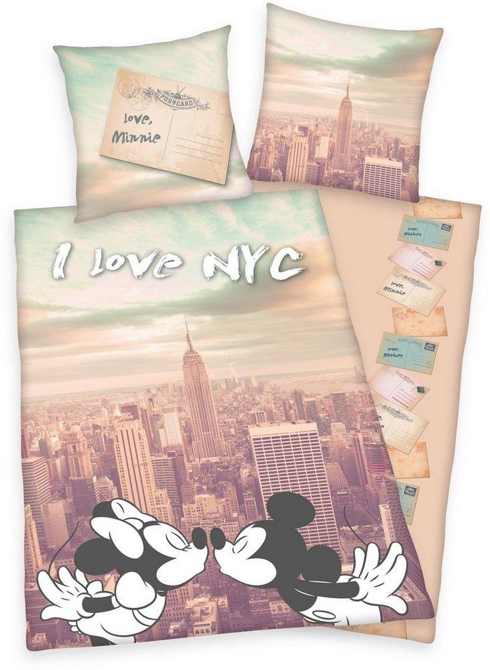 Jugendbettwäsche, Disney, »Mickey & Minnie New York« in multi