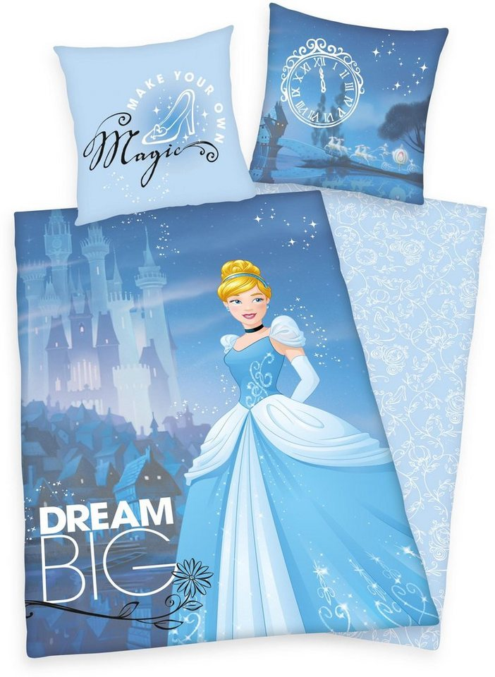 Kinderbettwäsche, Disney, »Big Dream Princess« in blau