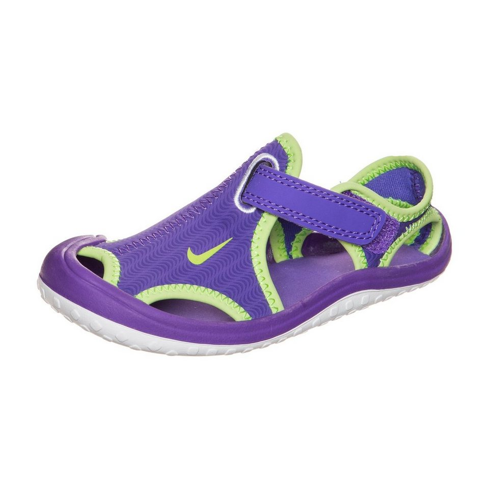 NIKE Sunray Protect Sandale Kleinkinder in lila / lime