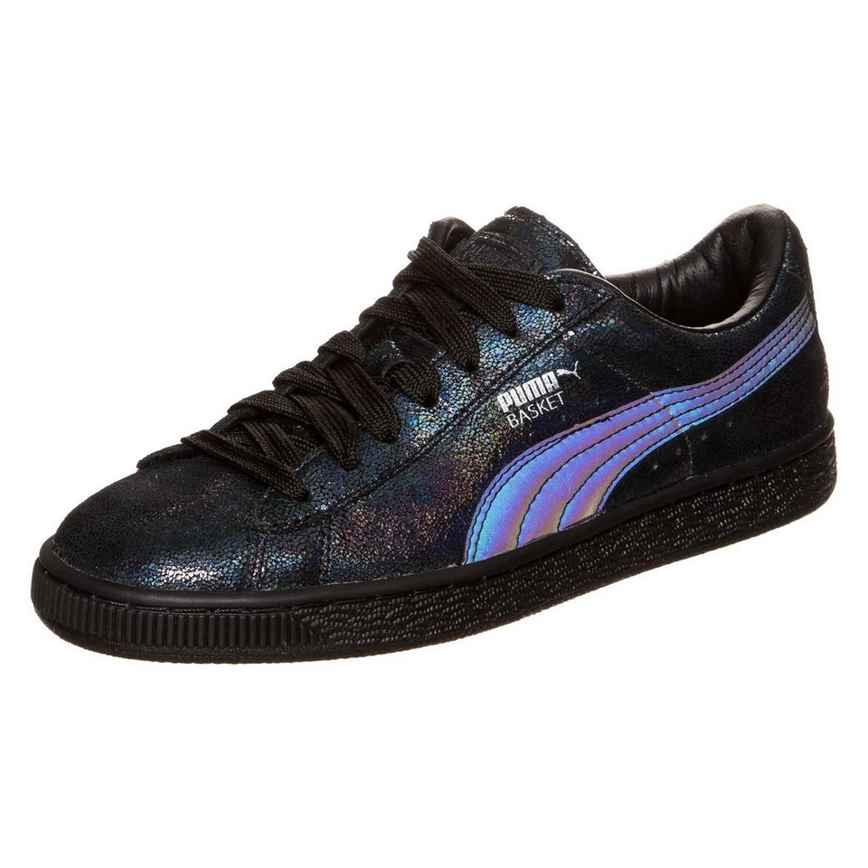 PUMA Basket Deep Summer Sneaker Damen in blau metallic