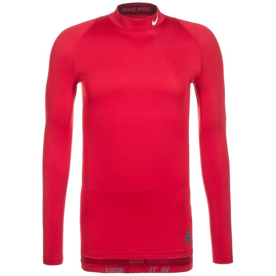 NIKE Pro Dry Compression Mock Trainingsshirt Herren in rot