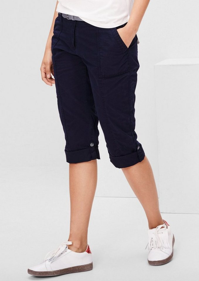 s.Oliver RED LABEL Smart Ankle: Turn-up-Chino in eclipse blue