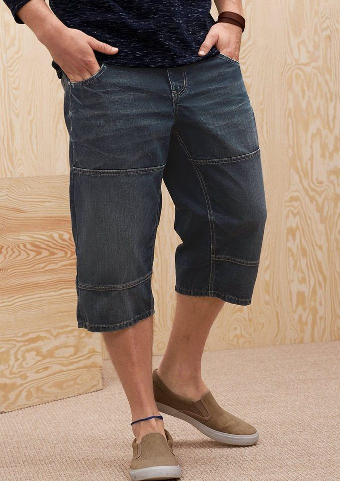 s.Oliver Scube Relaxed: Bermuda mit Abnähern in blue denim non stret