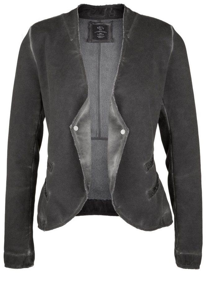 Better Rich Sweatblazer »PAILLETTE Dyed« in new black