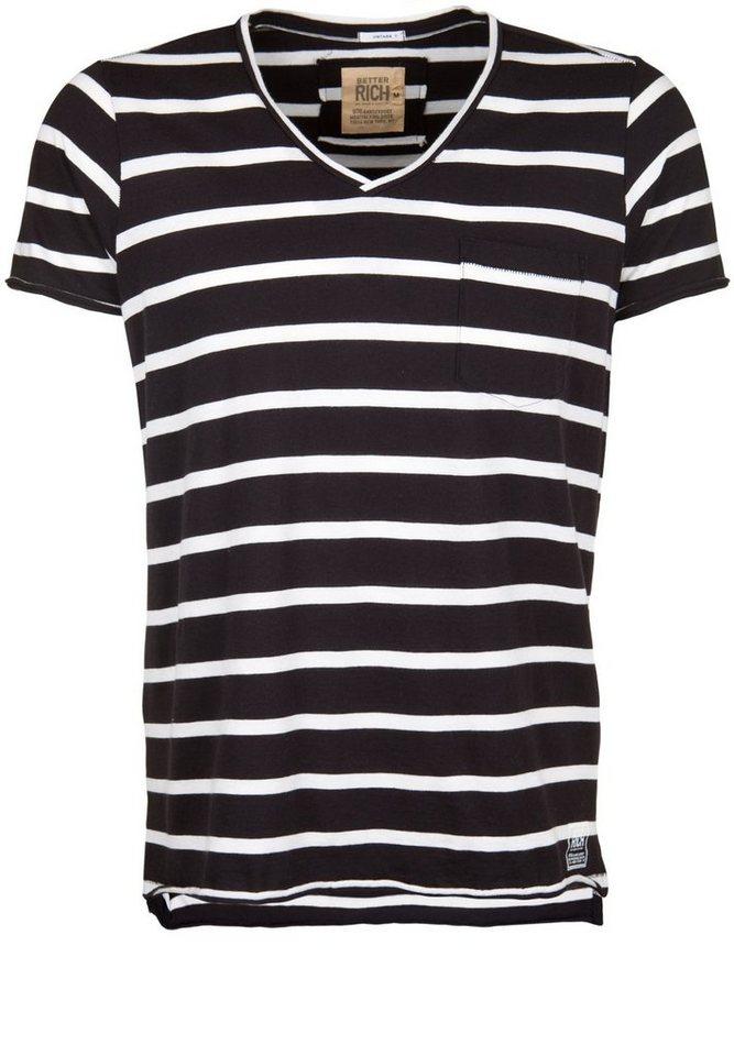 Better Rich T-Shirt »V-NECK STRIPE« in stripe B black