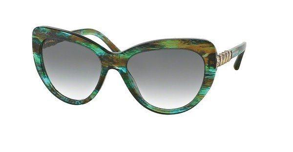 Bvlgari Damen Sonnenbrille » BV8143B« in 53408E - grün/grau