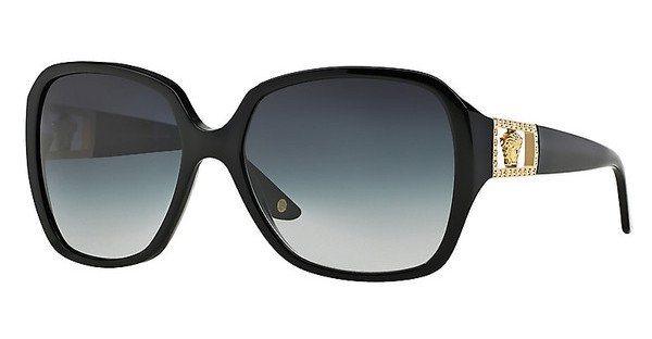 Versace Damen Sonnenbrille » VE4242B« in GB1/8G - schwarz/grau