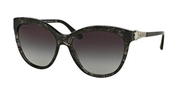Bvlgari Damen Sonnenbrille » BV8158« in 53668G - schwarz/grau