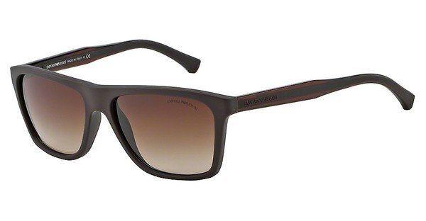 Emporio Armani Herren Sonnenbrille » EA4001« in 506413 - braun/braun