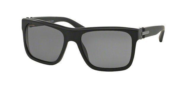 Bvlgari Herren Sonnenbrille » BV7022« in 531381 - schwarz/grau