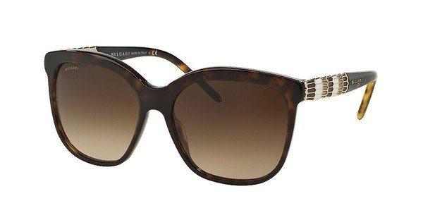 Bvlgari Damen Sonnenbrille » BV8155« in 504/13 - braun/grau