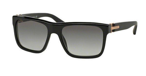 Bvlgari Herren Sonnenbrille » BV7022« in 530911 - schwarz/grau