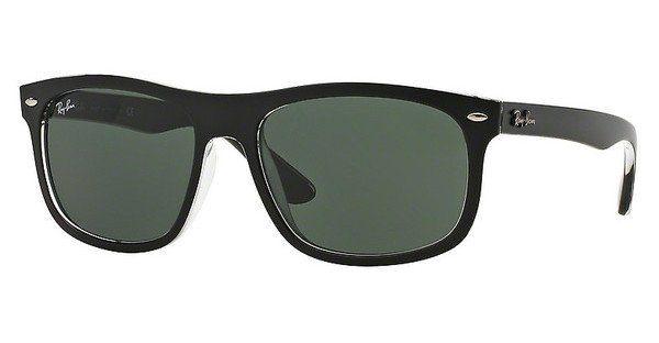 RAY BAN RAY-BAN Herren Sonnenbrille » RB4226«, schwarz, 605271 - schwarz/grün