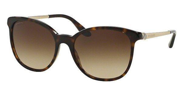 Bvlgari Damen Sonnenbrille » BV8160B« in 504/13 - braun/braun