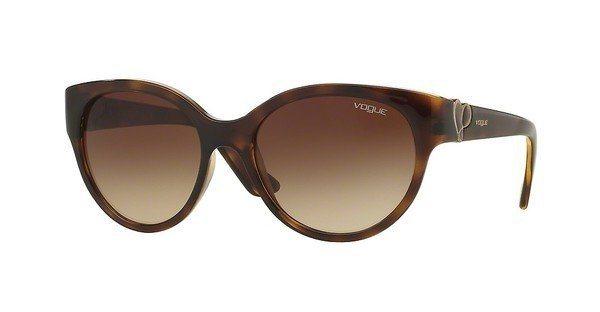 Vogue Damen Sonnenbrille » VO5035S« in W65613 - braun/braun